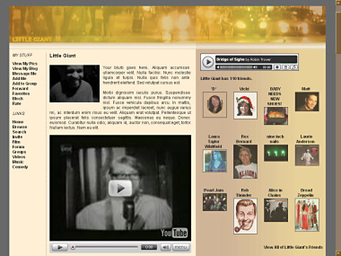MySpace Overlay screenshot