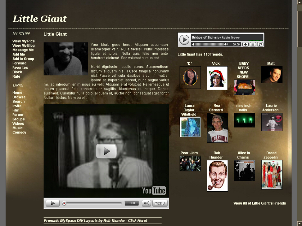 Vintage MySpace DIV Layouts - Winter/Christmas DIV Overlays
